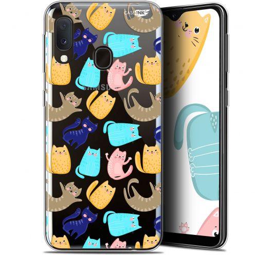 "Coque Gel Samsung Galaxy A20E (5.8"") Extra Fine Motif - Chat Danse"