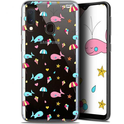 "Coque Gel Samsung Galaxy A20E (5.8"") Extra Fine Motif - Baleine à la Plage"