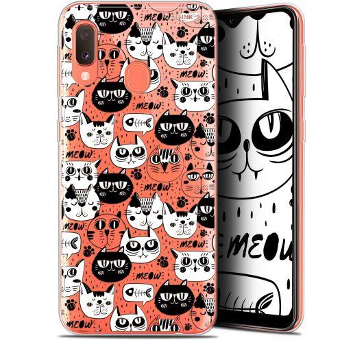 "Coque Gel Samsung Galaxy A20E (5.8"") Extra Fine Motif -  Chat Noir Chat Blanc"