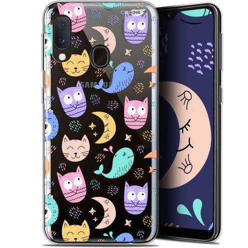 "Coque Gel Samsung Galaxy A20E (5.8"") Extra Fine Motif -  Chat Hibou"