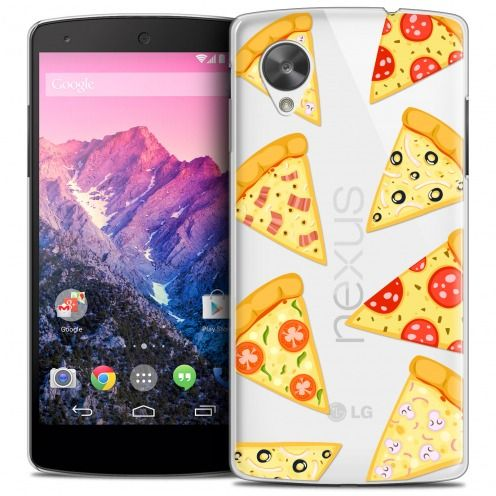 Coque Crystal Nexus 5 Extra Fine Foodie - Pizza
