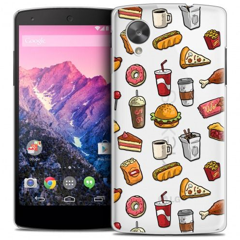 Coque Crystal Nexus 5 Extra Fine Foodie - Fast Food