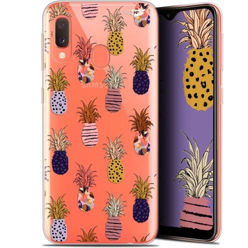 """Coque Gel Samsung Galaxy A20E (5.8"""") Extra Fine Motif - Ananas Gold"""