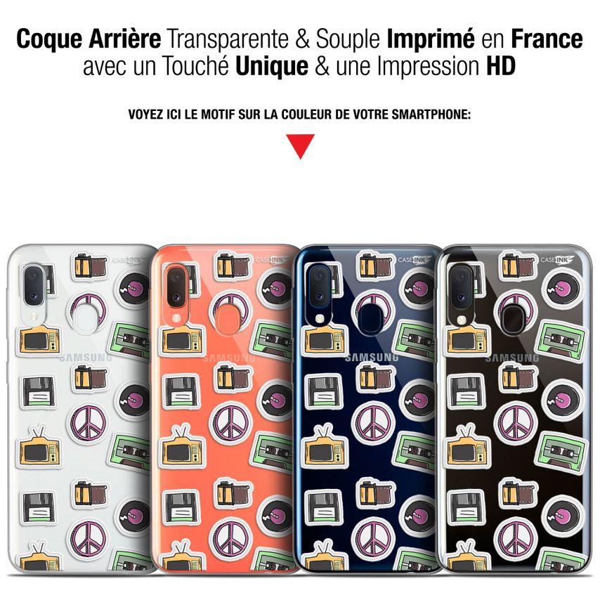 "Coque Gel Samsung Galaxy A20E (5.8"") Extra Fine Motif - Vintage Stickers"