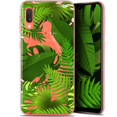 "Coque Gel Samsung Galaxy A20E (5.8"") Extra Fine Motif -  Plantes des Tropiques"