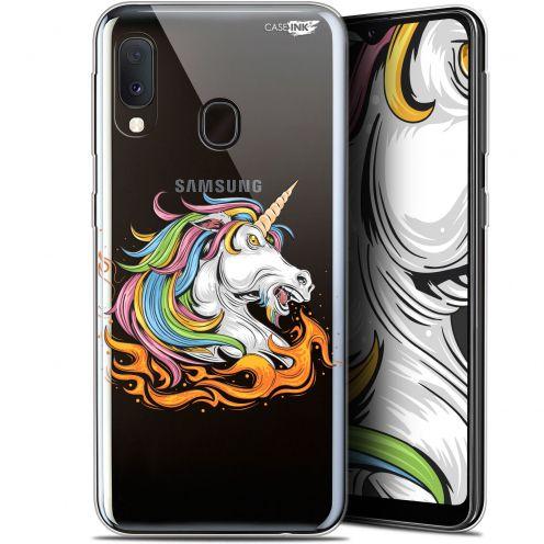 """Coque Gel Samsung Galaxy A20E (5.8"""") Extra Fine Motif -  Licorne de Feu"""