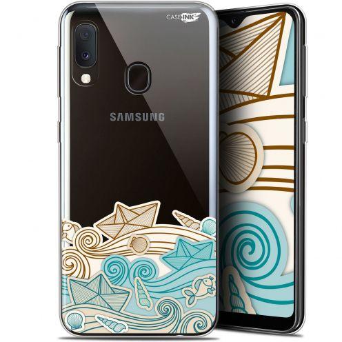 """Coque Gel Samsung Galaxy A20E (5.8"""") Extra Fine Motif -  Bateau de Papier"""