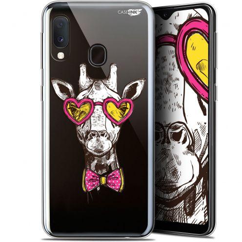 "Coque Gel Samsung Galaxy A20E (5.8"") Extra Fine Motif - Hipster Giraffe"