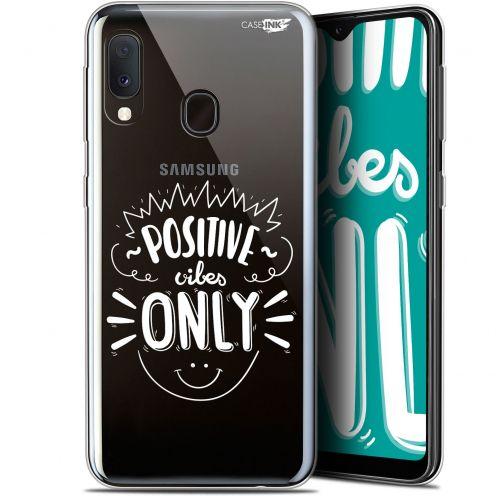 "Coque Gel Samsung Galaxy A20E (5.8"") Extra Fine Motif -  Positive Vibes Only"