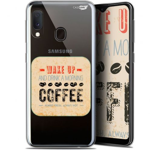 "Coque Gel Samsung Galaxy A20E (5.8"") Extra Fine Motif - Wake Up With Coffee"