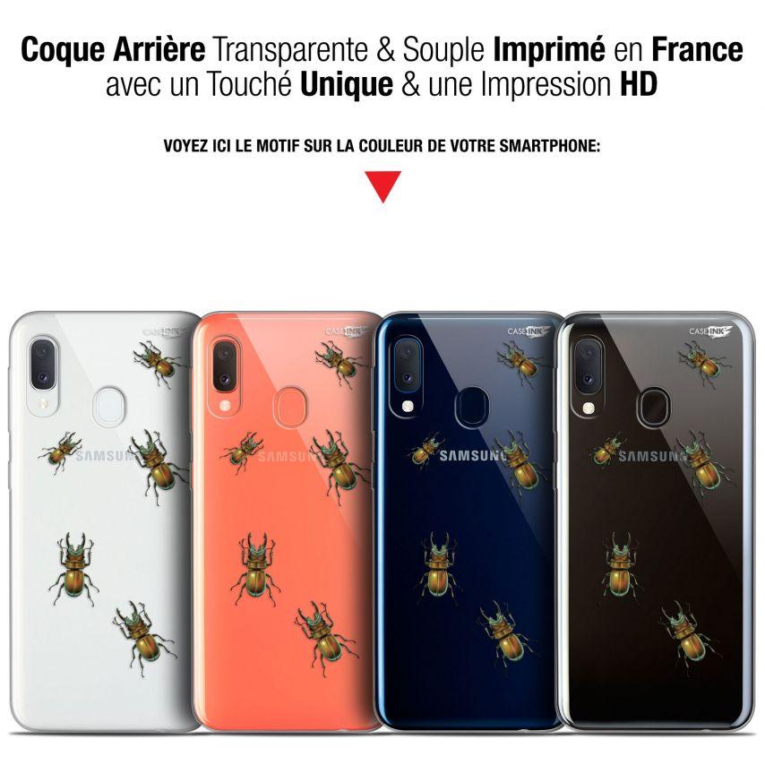 """Coque Gel Samsung Galaxy A20E (5.8"""") Extra Fine Motif - Petits Scarabés"""