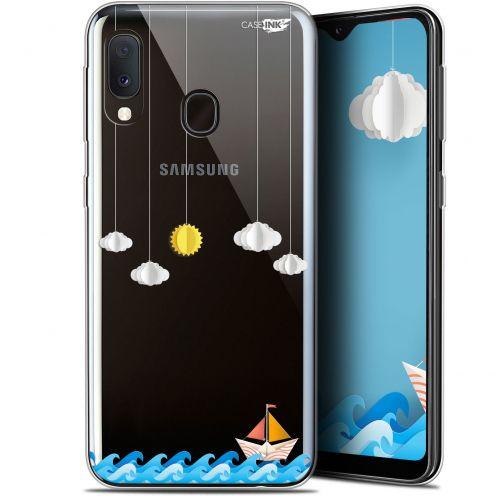 "Coque Gel Samsung Galaxy A20E (5.8"") Extra Fine Motif - Petit Bateau en Mer"
