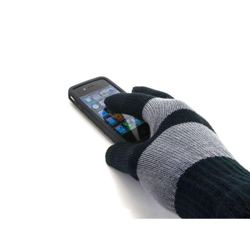 Visuel supplémentaire de iTouch - Gants tactiles spécial iPhone Noir & Gris - Taille M