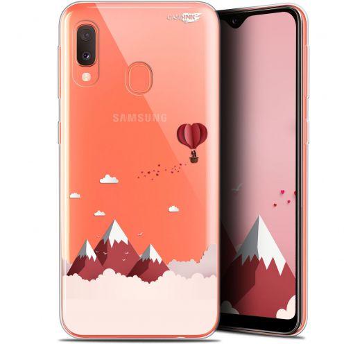 "Coque Gel Samsung Galaxy A20E (5.8"") Extra Fine Motif -  Montagne En Montgolfière"