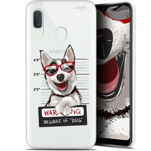 "Coque Gel Samsung Galaxy A20E (5.8"") Extra Fine Motif -  Beware The Husky Dog"