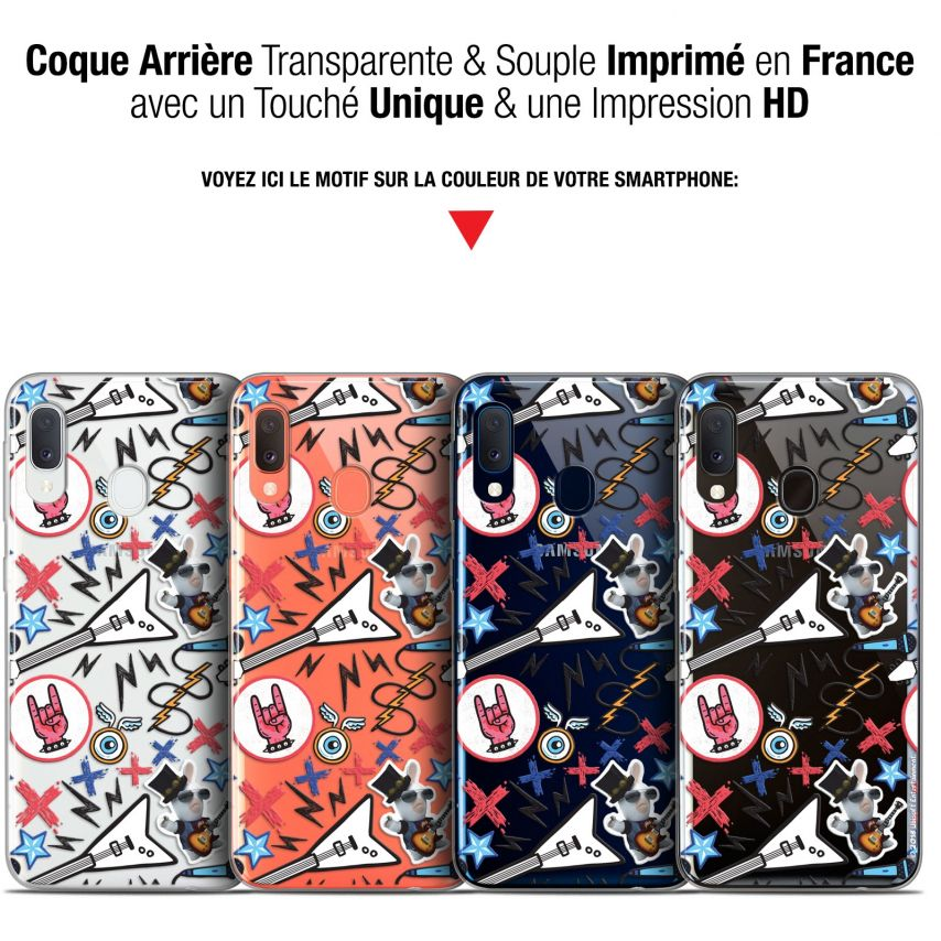 "Coque Gel Samsung Galaxy A20E (5.8"") Extra Fine Lapins Crétins™ - Rock Pattern"