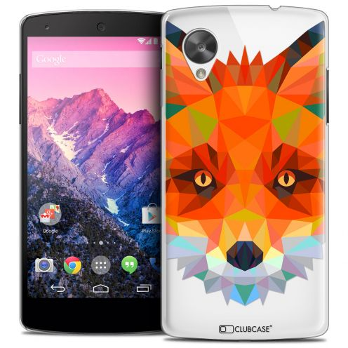 Coque Crystal Nexus 5 Extra Fine Polygon Animals - Renard