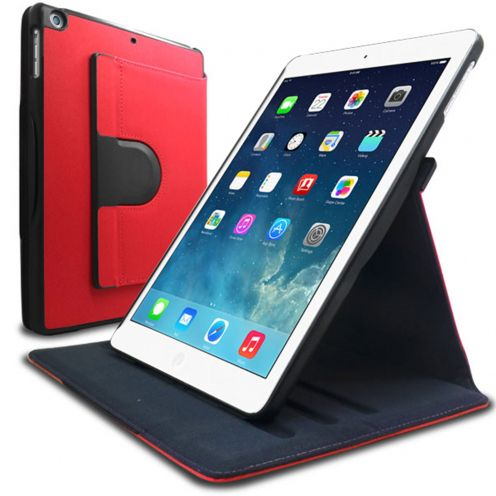 Coque iPad Air rotative 360° Club Rouge