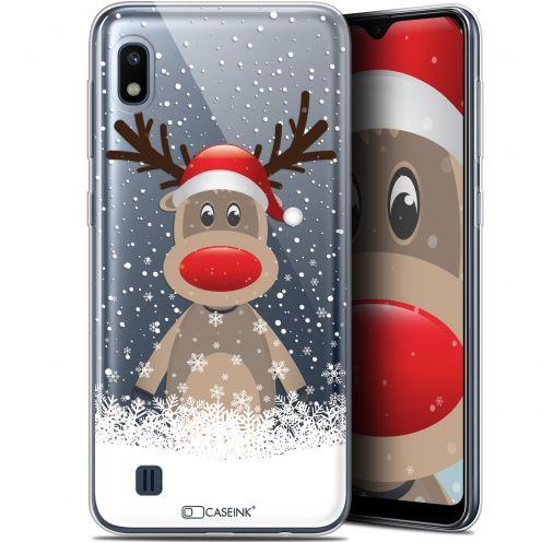 """Coque Gel Samsung Galaxy A10 (6.2"""") Extra Fine Noël 2017 - Cerf au Bonnet"""