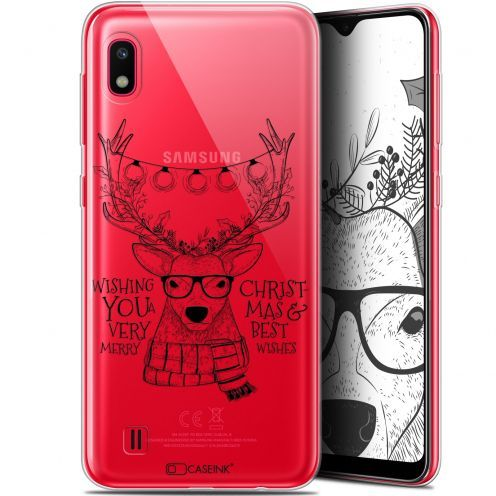 """Coque Gel Samsung Galaxy A10 (6.2"""") Extra Fine Noël 2017 - Cerf Hipster"""