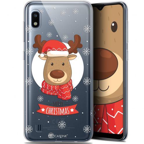 "Coque Gel Samsung Galaxy A10 (6.2"") Extra Fine Noël 2017 - Cerf à Echarpe"