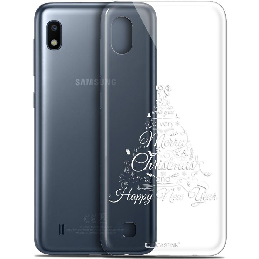 """Coque Gel Samsung Galaxy A10 (6.2"""") Extra Fine Noël 2017 - Calligraphie"""