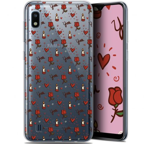 "Coque Gel Samsung Galaxy A10 (6.2"") Extra Fine Love - Bougies et Roses"