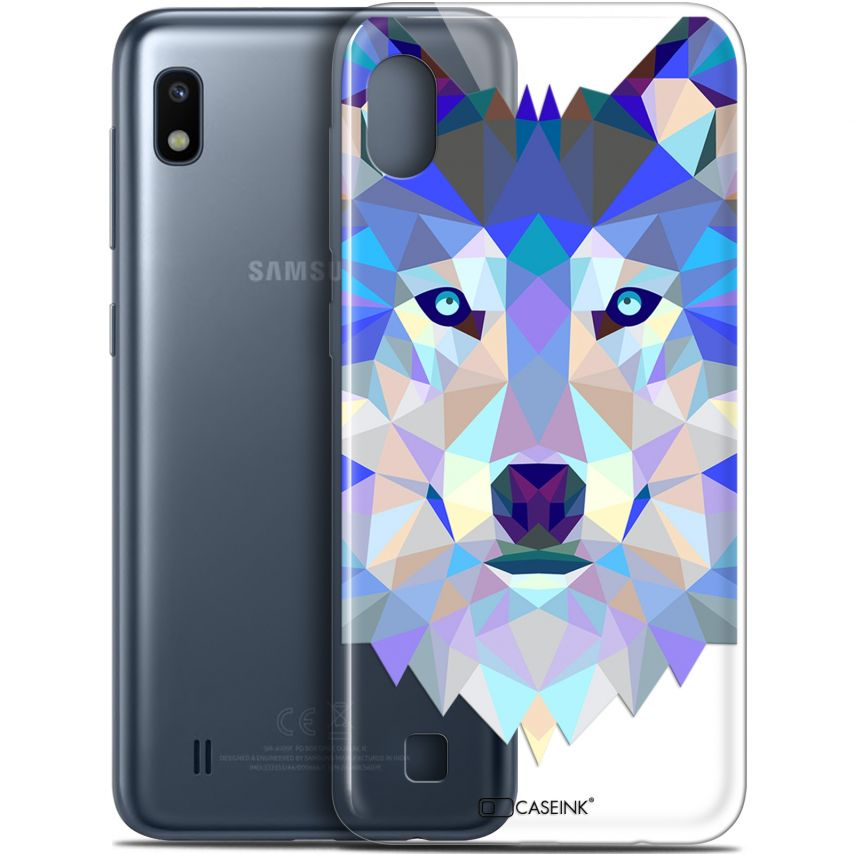"Coque Gel Samsung Galaxy A10 (6.2"") Extra Fine Polygon Animals - Loup"