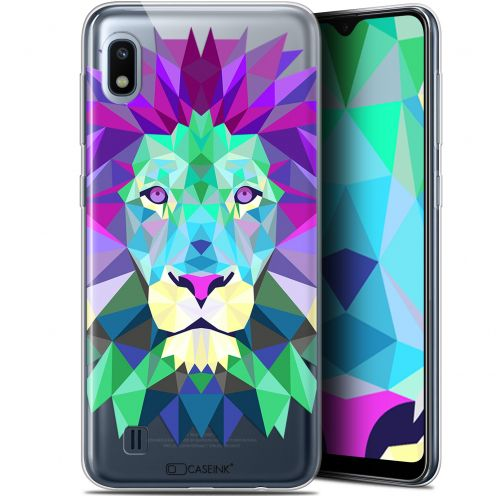 "Coque Gel Samsung Galaxy A10 (6.2"") Extra Fine Polygon Animals - Lion"