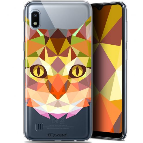 "Coque Gel Samsung Galaxy A10 (6.2"") Extra Fine Polygon Animals - Chat"