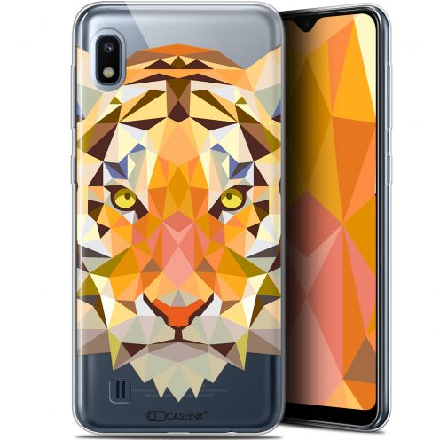 "Coque Gel Samsung Galaxy A10 (6.2"") Extra Fine Polygon Animals - Tigre"