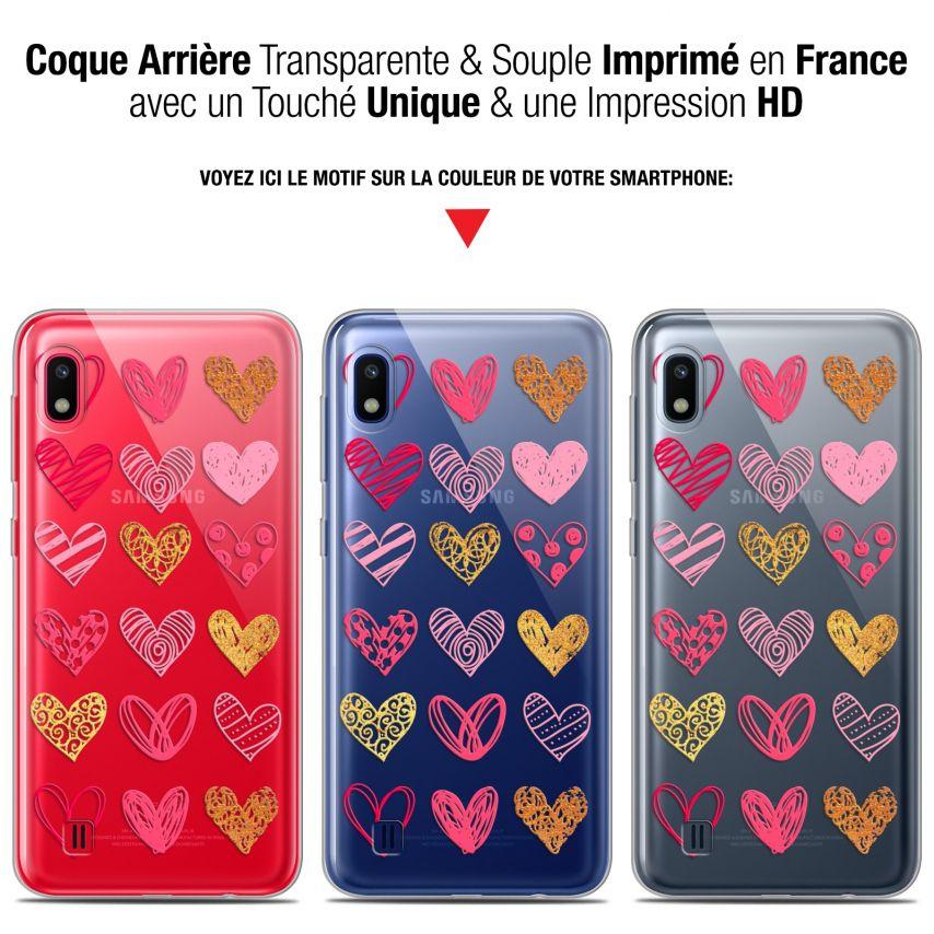 "Coque Gel Samsung Galaxy A10 (6.2"") Extra Fine Sweetie - Doodling Hearts"