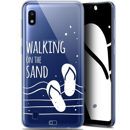 "Coque Gel Samsung Galaxy A10 (6.2"") Extra Fine Summer - Walking on the Sand"