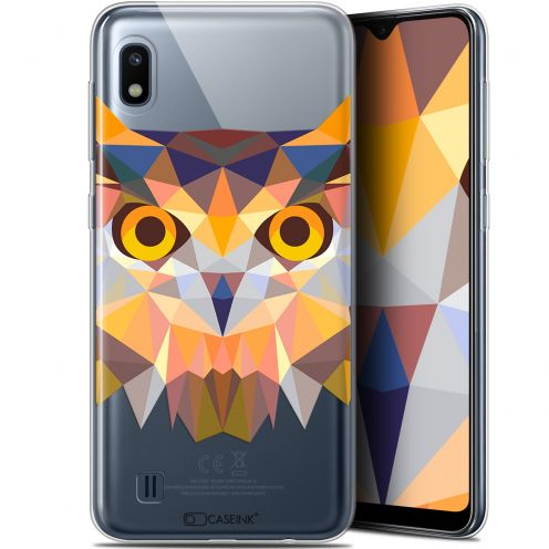 "Coque Gel Samsung Galaxy A10 (6.2"") Extra Fine Polygon Animals - Hibou"