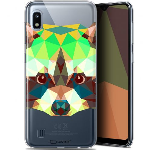 "Coque Gel Samsung Galaxy A10 (6.2"") Extra Fine Polygon Animals - Raton Laveur"