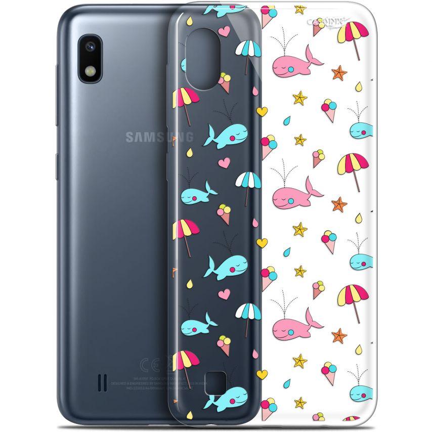 """Coque Gel Samsung Galaxy A10 (6.2"""") Extra Fine Motif - Baleine à la Plage"""