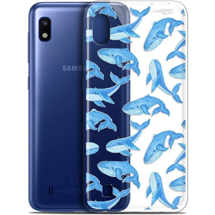 """Coque Gel Samsung Galaxy A10 (6.2"""") Extra Fine Motif - Baleines"""