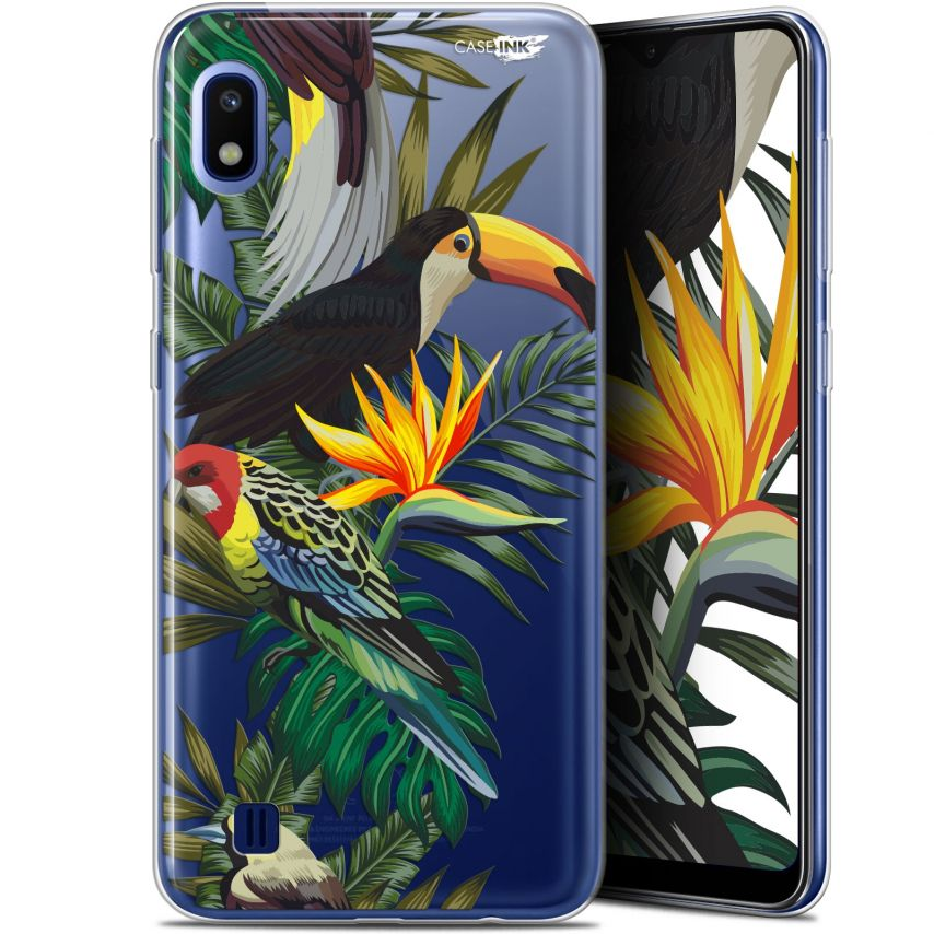 "Coque Gel Samsung Galaxy A10 (6.2"") Extra Fine Motif - Toucan Tropical"
