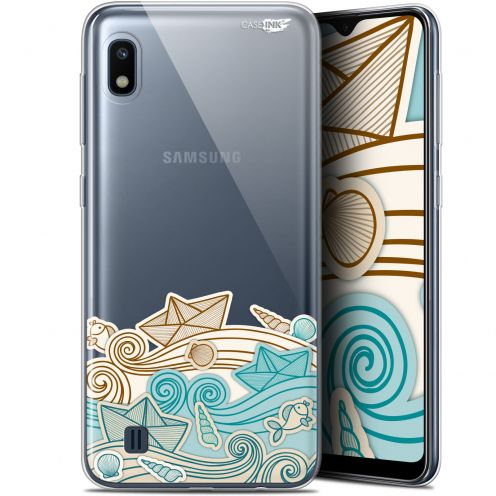 "Coque Gel Samsung Galaxy A10 (6.2"") Extra Fine Motif - Bateau de Papier"