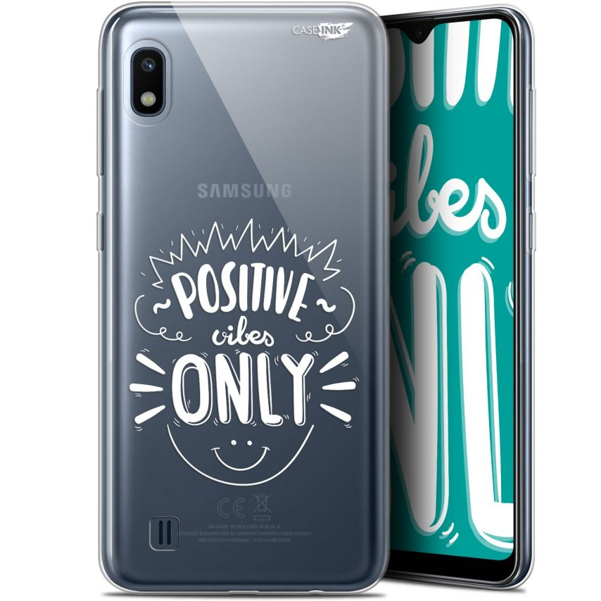 """Coque Gel Samsung Galaxy A10 (6.2"""") Extra Fine Motif - Positive Vibes Only"""
