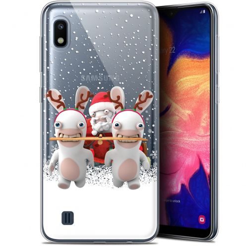 "Coque Gel Samsung Galaxy A10 (6.2"") Extra Fine Lapins Crétins™ - Lapin Traineau"