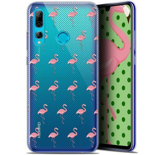 "Coque Gel Huawei P Smart+ / Plus 2019 (6.2"") Extra Fine Pattern - Les flamants Roses Dots"