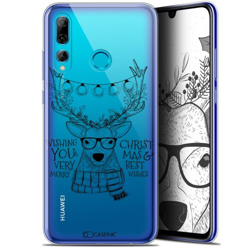 "Coque Gel Huawei P Smart+ / Plus 2019 (6.2"") Extra Fine Noël 2017 - Cerf Hipster"