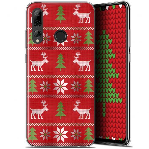 """Coque Gel Huawei P Smart+ / Plus 2019 (6.2"""") Extra Fine Noël 2017 - Couture Rouge"""