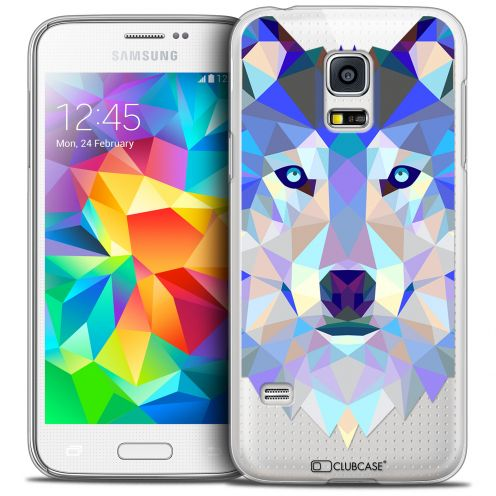 Coque Crystal Galaxy S5 Mini Extra Fine Polygon Animals - Loup