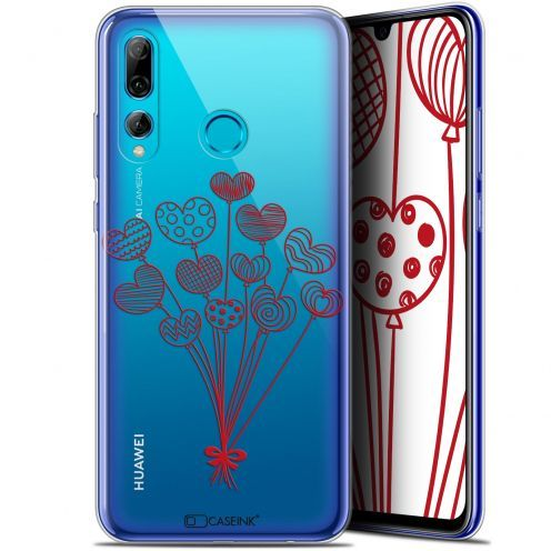 """Coque Gel Huawei P Smart+ / Plus 2019 (6.2"""") Extra Fine Love - Ballons d'amour"""