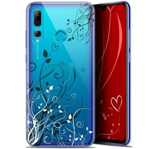 "Coque Gel Huawei P Smart+ / Plus 2019 (6.2"") Extra Fine Love - Hearts Flowers"