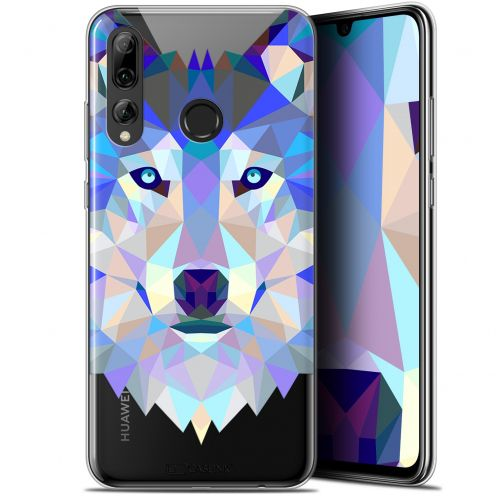 "Coque Gel Huawei P Smart+ / Plus 2019 (6.2"") Extra Fine Polygon Animals - Loup"
