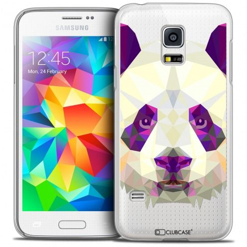 Coque Crystal Galaxy S5 Mini Extra Fine Polygon Animals - Panda