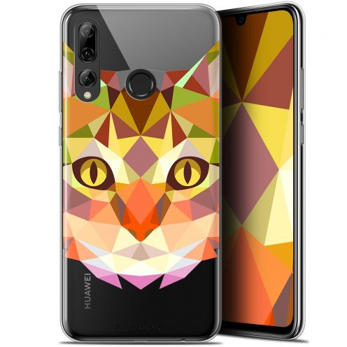 """Coque Gel Huawei P Smart+ / Plus 2019 (6.2"""") Extra Fine Polygon Animals - Chat"""